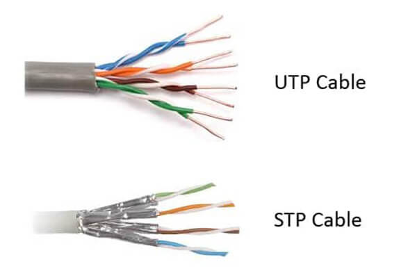 کابل شبکه utp و stp