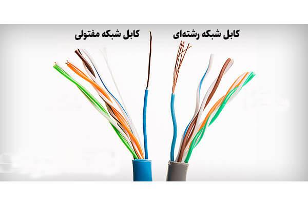 کابل شبکه رشته ای و مفتولی
