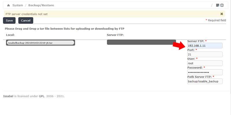 بکاپ در سرور FTP