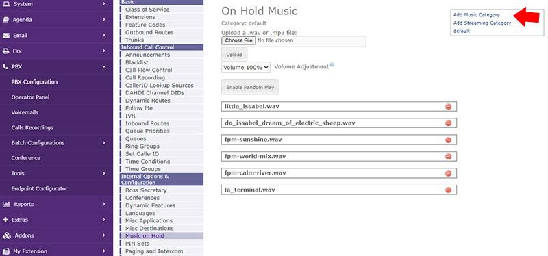 اضافه کردن music category